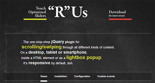 jQuery Touch Optimized Sliders R Us