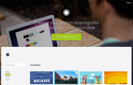 prevue design sharing tool