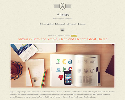 Alixius - Clean Responsive Ghost Theme
