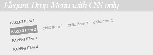 Elegant Drop Menu with CSS only