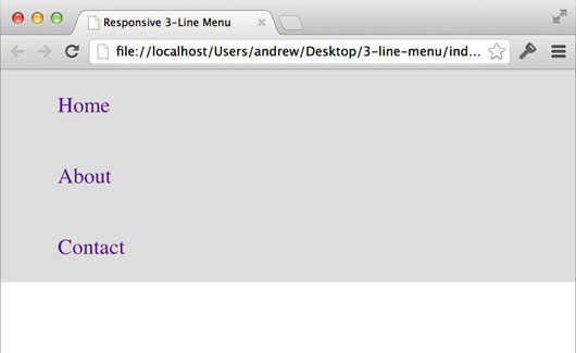 """How to Build a """"Three Line"""" Drop-down Menu for a Responsive Website in jQuery"""