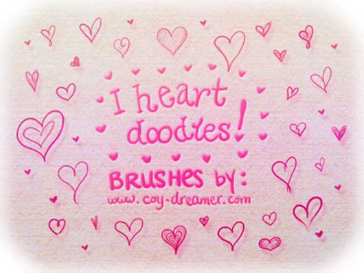 I heart doodles! Brushes
