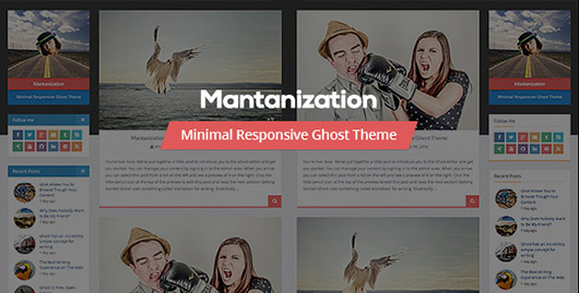 Mantanization - Minimal Responsive Ghost Theme