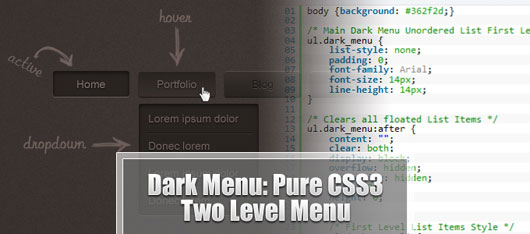 Pure CSS3 Two Level Menu [Tutorial]