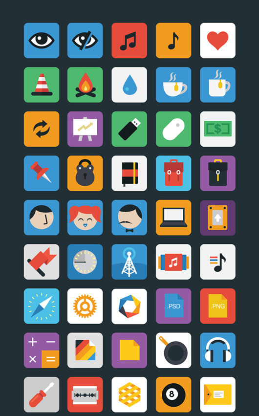 Stylicons: 100 flat icons