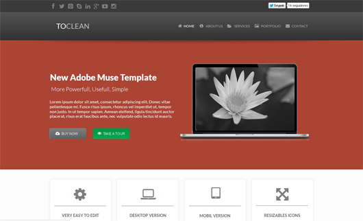 ToClean Muse Template