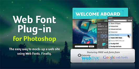 Web Font Plug-in for Photoshop