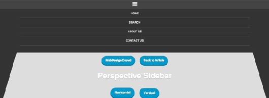Animated CSS3 Perspective Menu