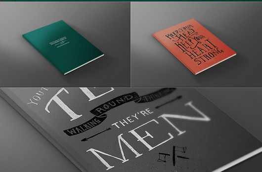 Book Front Cover Mock-up Template PSD File