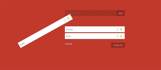 Creative Add/Remove Effects for List Items with CSS3 Animations