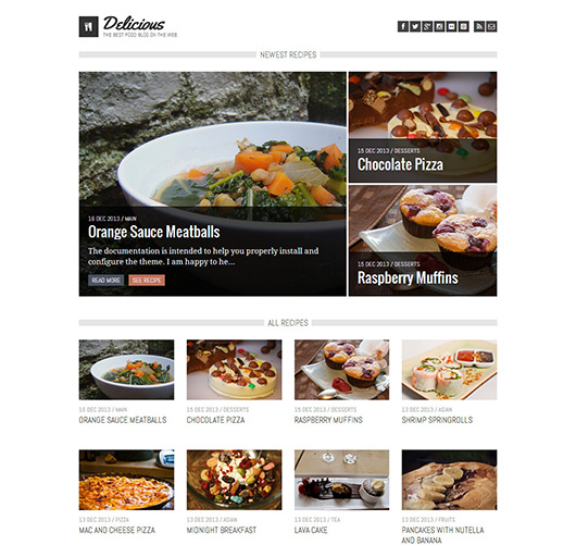 Delicious - Recipe & Food Ghost Theme