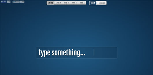 Fancy Input – CSS3 Text Typing Effects for Input Fields