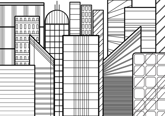 How to Create a Line-Based Cityscape With the Rectangle Tool in Illustrator