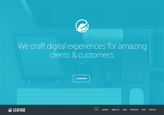 Leafage - One Page & Corporate Responsive Theme