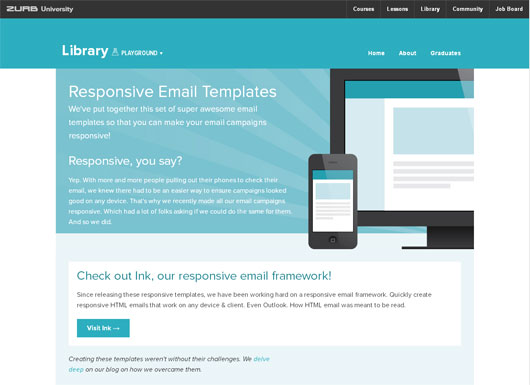 ZURB RESPONSIVE EMAIL TEMPLATE
