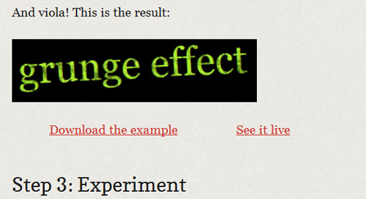 Add grunge effect to text using simple CSS