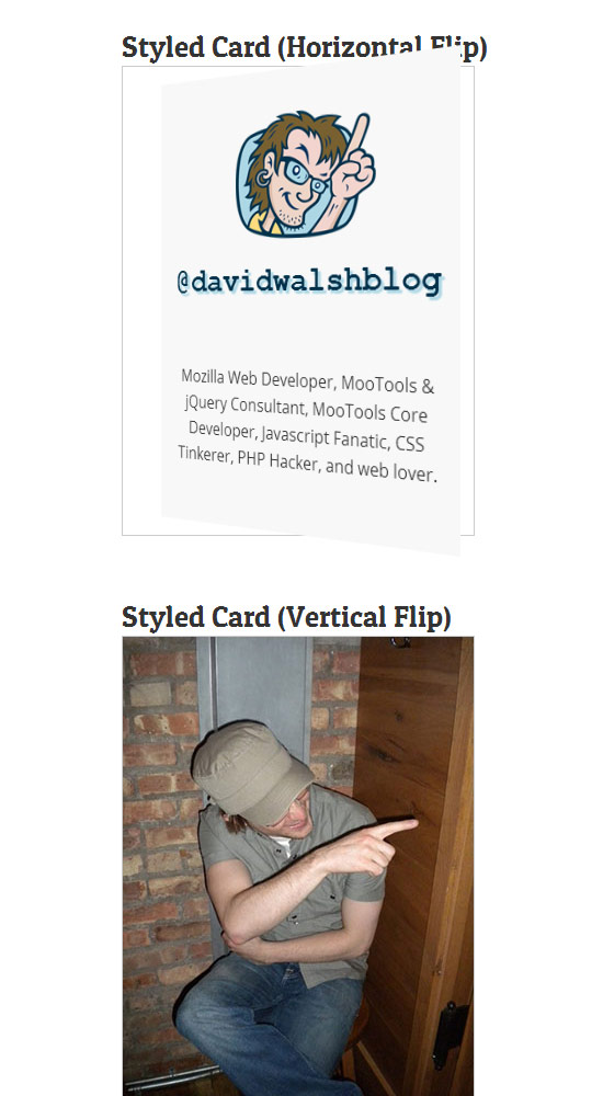 Create a CSS Flipping Animation