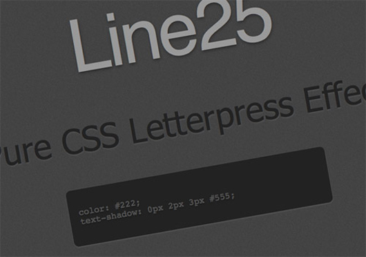 Create a Letterpress Effect with CSS Text-Shadow
