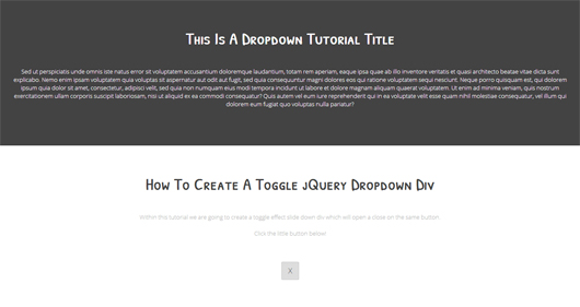 HOW TO CREATE A JQUERY SLIDEDOWN TOGGLE JQUERY EFFECT TUTORIAL