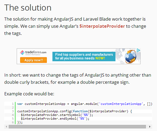 How to use AngularJS and Laravel Blade together
