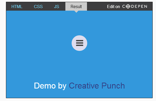 Making an animated radial menu with CSS3 and JavaScript
