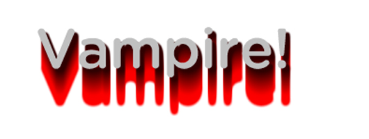 Text Dripping Blood