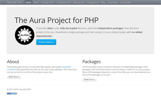 The Aura Project for PHP