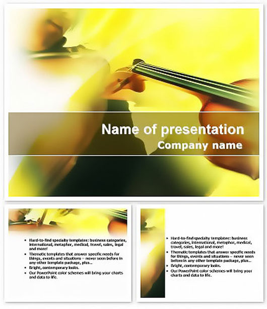 Musician plays the violin Keynote Template