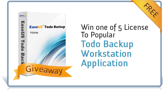 [Giveaway] Win one of 5 License To Popular Todo Backup Workstation Application