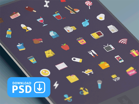 Free-Set-Colorful-Ficons-Icons