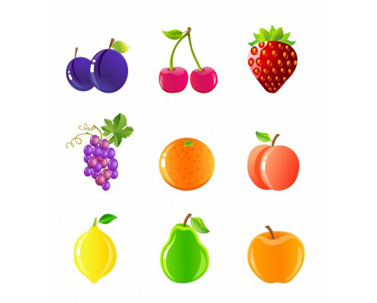 Fruits-and-berries-icon-set