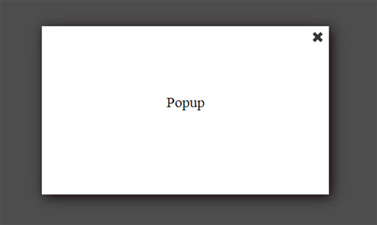 Simple jQuery Popup