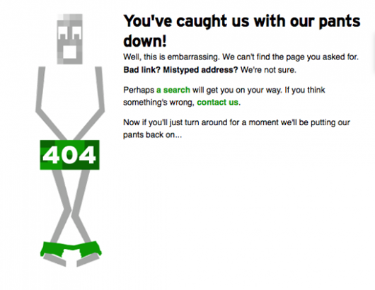 Tech Crunch's 404 Page