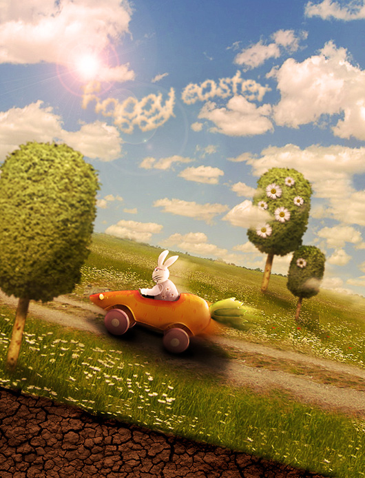 The Easter Bunny Photoshop Manipulation Tutorial
