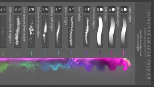 27 Free Smudge Photoshop Brushes (Painterly Edition)