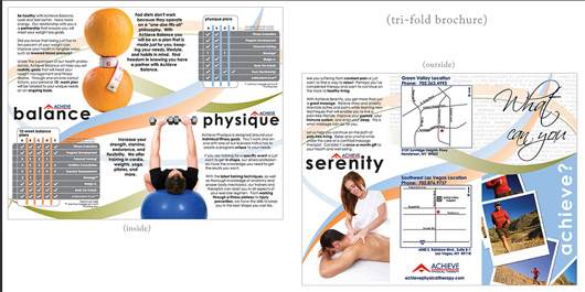 Achive Physical Therapy brochure