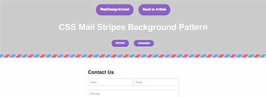 CSS3 Mail Stripes Pattern