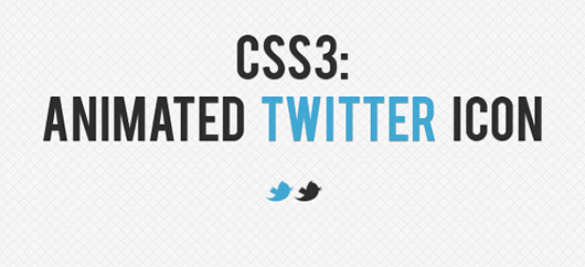 CSS3 Tricks: Animated Twitter Bird