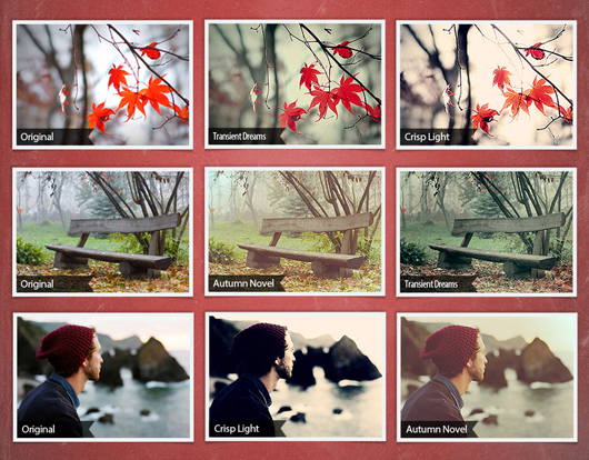 Chill Autumn Photoshop Actions