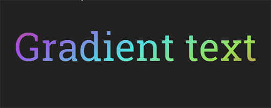 Colorful gradient text with CSS3