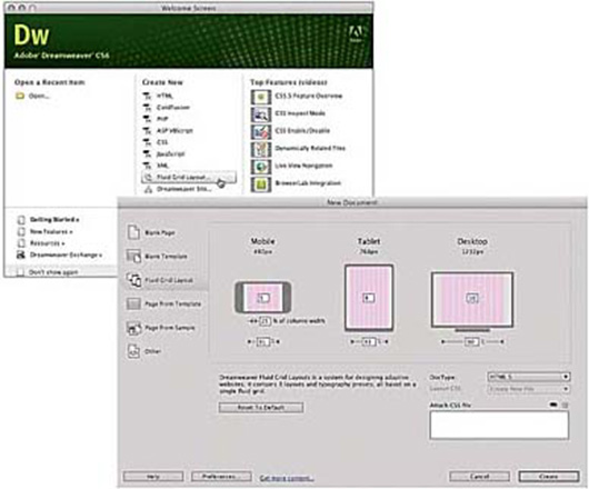 Designing Responsive Web Pages Using a Fluid Grid Layout in Adobe Dreamweaver CS6