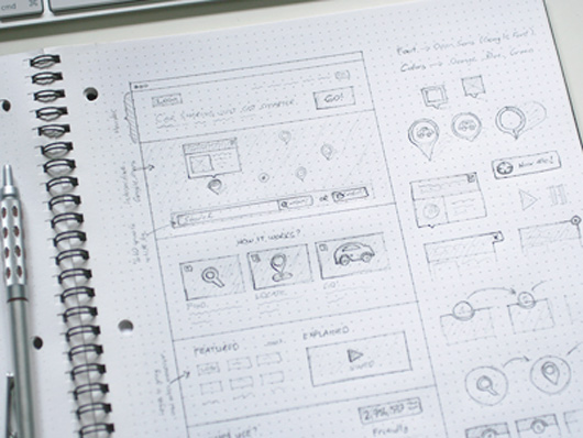 Early sketches for a website