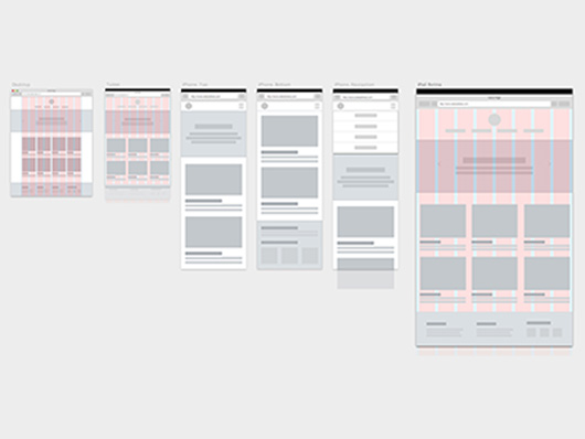 wireframe user interface