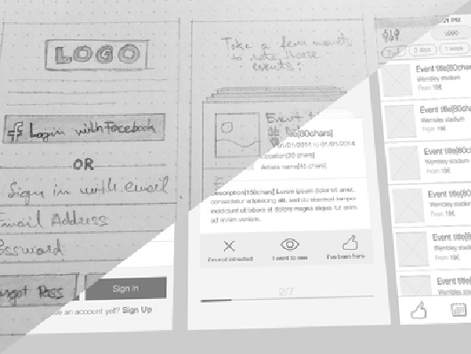 From sketch to wireframes
