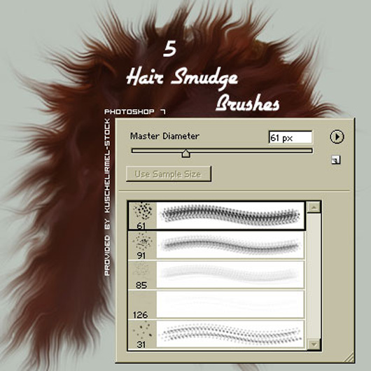 Hair Smudge Brushes
