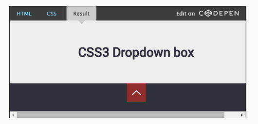 How to make a Pure CSS drop down box by using CSS3 animations and a checkbox hack