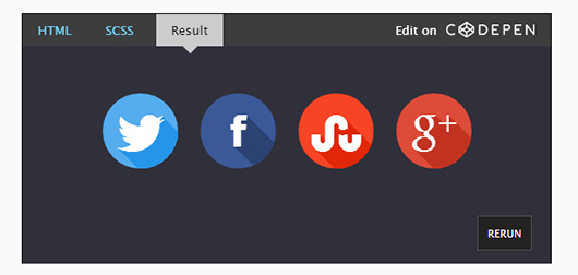 Long Shadow Buttons with CSS3 and Sass