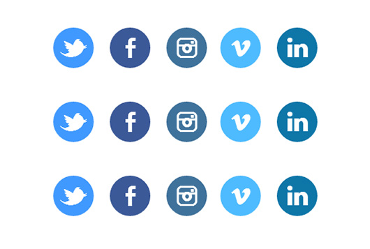 Making animated CSS3 social buttons