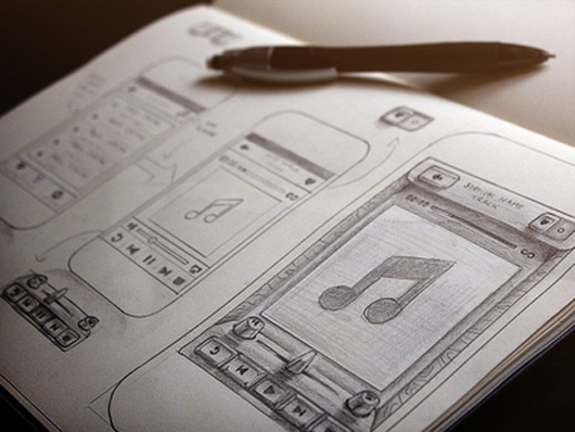 user interface sketches