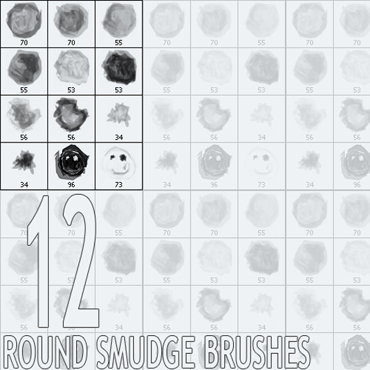 Round Smudge Brushes